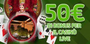 gioco digitale bonus casino live