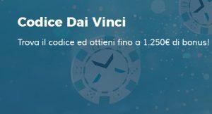 StarCasinò: Bonus fino 1250€ con il Codice Dai Vinci