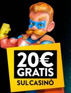 Bonus senza deposito PlanetWin365 20€