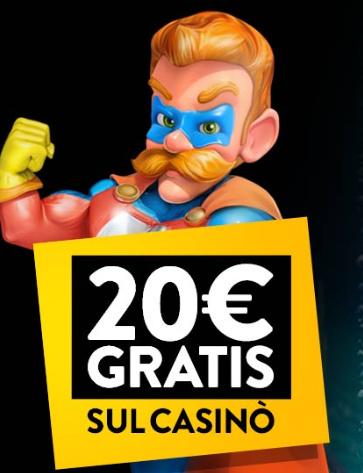 Bonus senza deposito 20€ - PlanetWin365 - S-Games